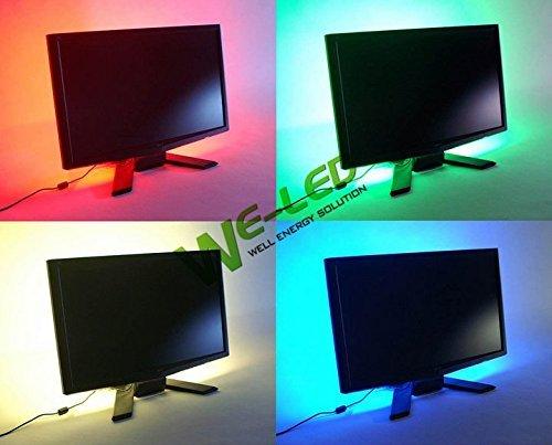 19.7in 50 cm, Blau, LED Strip Leuchte, TV Hintergrundbeleuchtung, einheitliche Farbe, inklusive 5 V USB Kabel Gerneric U5B