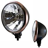 Motorrad Hauptscheinwerfer - Scheinwerfer Kupfer Lampenring -Bates-Style- H4 Lampe E-geprüft