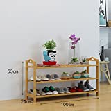 Easy to clean, good quality Schuh-Rack Bambus-Regale kreative Indoor-Schuhrahmen einfache Haus Schuhschrank moderne Montage Regale Large capacity, the use of a wide range (Farbe : A, größe : 100cm)