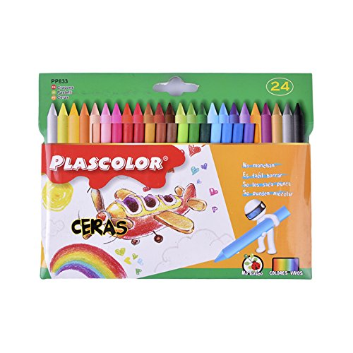 Plascolor PP833 - Pack de 24 ceras