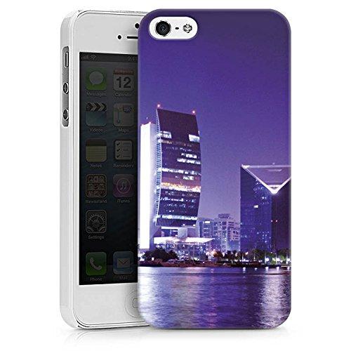 Apple iPhone X Silikon Hülle Case Schutzhülle Dubai Stadt Skyline Hard Case weiß