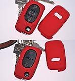Klapp Schlüssel Hülle Hartschale Cover Kaminrot für Audi A4 B6 A3 8L A6 C5 A2