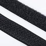 1m Klettband Haken+Flausch , hochwertig zum Aufnähen 25mm schwarz