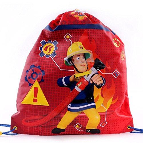 Feuerwehrmann Sam - Kinder Sportbeutel Turnbeutel Schwimmtasche 43x36 cm