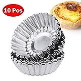 Freebily Set von 10 Kuchenform Aluminium Backformen Cupcakeform Pudding Tassen/Becher Formen für Muffins und Cupcakes