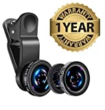 #3: MacBerry Universal 3In1 Mobile Phone Camera Lens Kit With Fish Eye Lens Compatible with Nokia, Redmi, Samsung, Apple Device, AllSmartphones