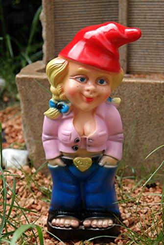 Gartenzwerg Mandy Pink Zwergenfrau aus bruchfestem PVC Zwerg Made in Germany Figur - 2