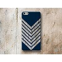 Blau Chevron Holz Print Hülle Handyhülle für iPhone 4 4s 5 5se se 5C 5S 6 6s 7 Plus iPhone 8 Plus iPod 5 6