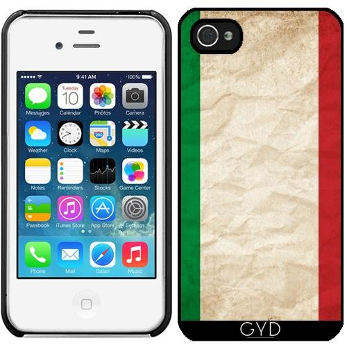 Leder Flip Case Tasche Hülle für Apple iPhone 6/6S - Italien Italienisch Europa Flagge by WonderfulDreamPicture Starre Kunststoff