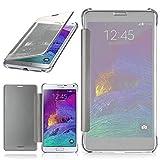 moex Samsung Galaxy Note 4 | Hülle Transparent TPU Void Cover Dünne Schutzhülle Silber Handyhülle für Samsung Galaxy Note 4 Case Ultra-Slim Handy-Tasche mit Sicht-Fenster