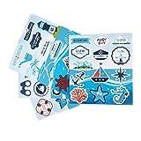 SUNBEAUTY Maritime Sticker Kinder Meer Motive Fenstersticker für Babyparty Geburtstag