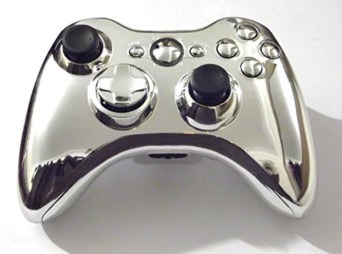 greenzone-r-chrome-silver-xbox-360-controller-shell-with-matching-buttons-mod-kit-uk-company