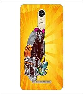 PrintDhaba Music Monkey D-5850 Back Case Cover for XIAOMI REDMI NOTE 3 MEDIATEK (Multi-Coloured)