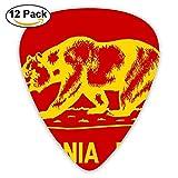 Accessories Large California Flags Bear Acoustic Guitar Picks 12 Packs