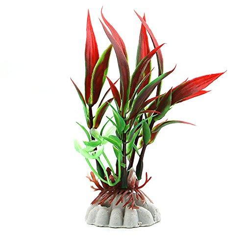 logres Fisch Tank Aquarium Kunststoff Bambus Blatt Künstliche Wasser Pflanze Decor Ornament -