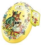Heidel Confiserie Latta in Metallo a Forma di Uovo di Pasqua con Cioccolatini al Latte Ripieni con Crema Pralinata e Cereali Croccanti - 2 x 103 Gram