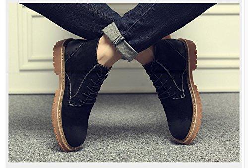 HL-PYL-Uomini stivali, scarpe di pelle, sandali, sandali, grande testa scarpe, ma Dingxue black