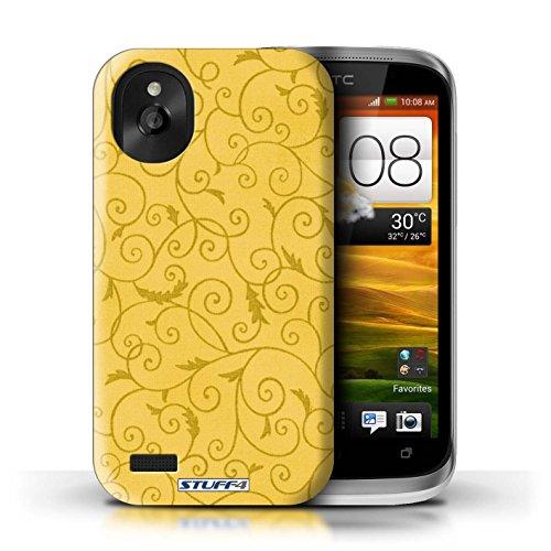 Kobalt® Imprimé Etui / Coque pour HTC Desire X / Rose conception / Série Motif de la vigne Jaune