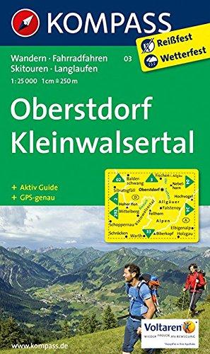 Preisvergleich Produktbild Oberstdorf, Kleinwalsertal: Wanderkarte mit Aktiv Guide, Radwegen, Loipen und alpinen Skitouren. GPS-genau. 1:25000 (KOMPASS-Wanderkarten, Band 3)
