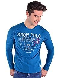 GALVANNI Itz, Camiseta de Manga Larga para Hombre