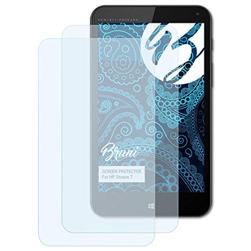 Bruni Schutzfolie für HP Stream 7 Folie, glasklare Displayschutzfolie (2X)