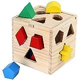 Buntes-Steckspielzeug-13-teilig-aus-Holz-Holzspielzeug-Lernspielzeug-fr-Kleinkinder