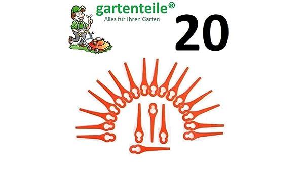 20 Ersatz Messer passend für IKRA HURRICANE HATI 18 Li Akku Rasentrimmer