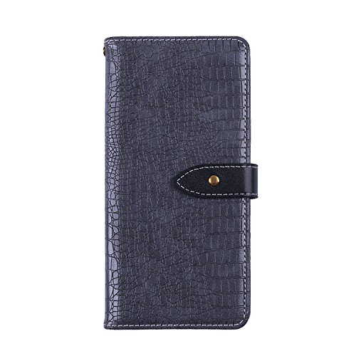 CiCiCat BLUBOO S8 Plus Hülle Handyhüllen, Flip Back Cover Case Schutz Hülle Tasche Schutzhülle Für BLUBOO S8 Plus Smartphone. (BLUBOO S8 Plus 6.0'', Grau)