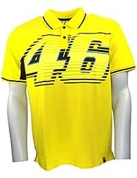 Valentino Rossi VR46 grand 46 Moto GP Polo Shirt jaune officiel Neuf
