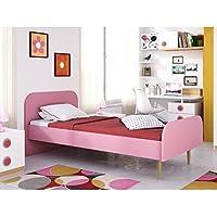 Movian -  Cadre de lit simple Aveyron Modern, 195 x 100 x 80, Rose