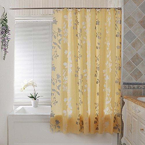 Rideaux de douche PEVA Bath Material Rideau de douche imperméable à l'eau Hanging plus épais Durable ( taille : 200×220CM )
