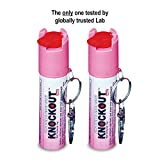 Knockout Pepper Spray Key Chain with Loc...