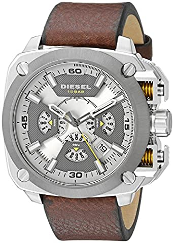 Diesel Men's DZ7343 Stainless Steel Watch with Leather Band