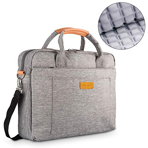 Laptoptasche Aktentaschen Handtasche Tragetasche Schulter Tasche Notebooktasche Laptop Sleeve Laptop hülle für bis zu 17-17.3 Zoll Laptop Dell Alienware/MacBook/Lenovo/HP,Grau ()
