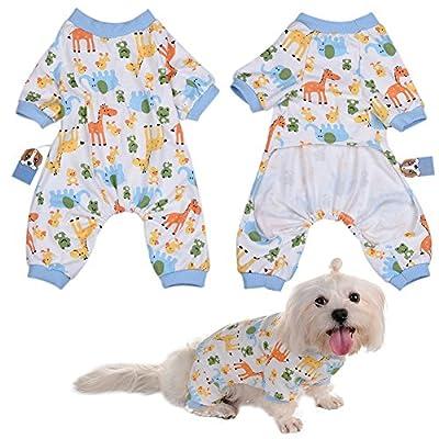 WIDEN Pet Dog Pajamas Jumpsuits Puppy Clothes Cotton Cute