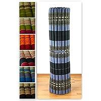 Preisvergleich für Kapok Rollmatte der Marke Asia Wohnstudio, 200cm (Länge) x 145cm (Breite) x 4,5cm (Höhe), Thailändische Rollmatte, Entspannungsmatte, Yogamatte, Pilates, Rollmatratze