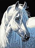 yeesam Art neuen 5D Diamant Painting Kit–Weiß Pferd 30* 40–DIY Kristall Diamant Strass Gemälde eingefügt Malen nach Zahlen Kits Kreuzstich Stickerei