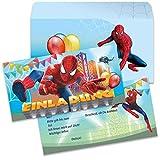Spider Spiderman Kinder Jungen Einladung Karten Einladungen Einladungskarten mit Umschlag