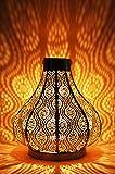 Orientalische Laterne aus Metall Bagok Silber 30cm | orientalisches Marokkanisches Windlicht Gartenwindlicht | Marokkanische Metalllaterne für Draußen als Gartenlaterne, Oder Innen als Tischlaterne
