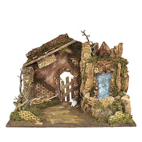 Rossi Rosa Art Code-10993 Hütte, 60 x 34 x 43 cm, Mehrfarbig, Einheitsgröße