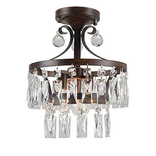 Amerikanische Retro Kristall Deckenleuchte, kreative braune Kronleuchter für Wohnzimmer, Schlafzimmer, Restaurant (Finish Gold Kristall-kronleuchter)