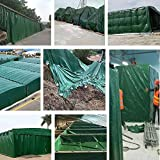 Vele parasole CJC Telone All'aperto Robusto Ombra Multifunzione Tarps Foglio 100% Impermeabile Piscina/Copertura Camion/Campeggio (Color : Green, Size : 4x10m)