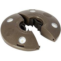 ION Audio Patio Mate Éclairage LED pour Parasol avec Haut-Parleurs Bluetooth Intégrés avec Batterie Rechargeable - Waterproof