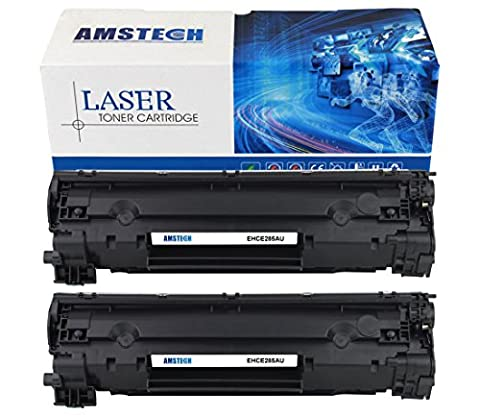 2 Pack Amstech Compatible Toner CE285A (1600 Pages) for HP(85a) LaserJet Pro P1100 P1102 P1102W P1102WHP, Pro M1132 M1210 M1130 M1212NF