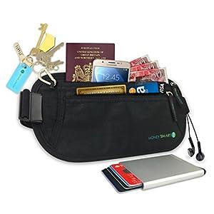 8dffc33085 Porta Carte Anti-Furto & Cintura Portasoldi da viaggio per Passaporto,  Carte, ID. Marsupio Segreto & Portafoglio fine per Sport & Viaggi