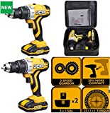 CORDLESS LITHIUM COMBI HAMMER DRILL DRIVER 20v JCB *MEGA DEAL 2 LITHIUM BATTERYS CHARGER FREE 15 PIECE RATCHET SET +FREE LED HEAD LIGHT*CARRYING CASE *5 YEAR MANUFACTURERS GAURANTEE*