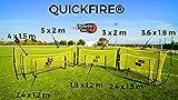 Fußballtor QuickFire® in 7 verschiedenen Größen - WETTERFEST - 2 MIN AUFBAUZEIT - Innovation von POWERSHOT® (5 x 2m)