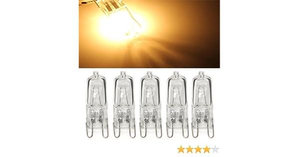 Ecloud Shop 10 X Ampoule Lampe Halog/ène G9 230V 40 Watte 40W Blanc Chaude Pr H/ôtel
