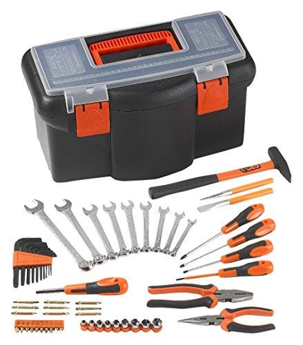 Orange-tool-box (tood TB216–57set 40,6cm Tool Box,, schwarz & orange)