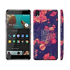 Noise OnePlus X Case/Back Cover + Free Tempered Glass, Noise Designer Premium PolyCarbonate Case Back Cover for OnePlus X [Slim fit, scratch & impact resistant MATTE finish] + Free Premium Tempered Glass (HD) - Screenguard (Enjoy Today) (PR-7)